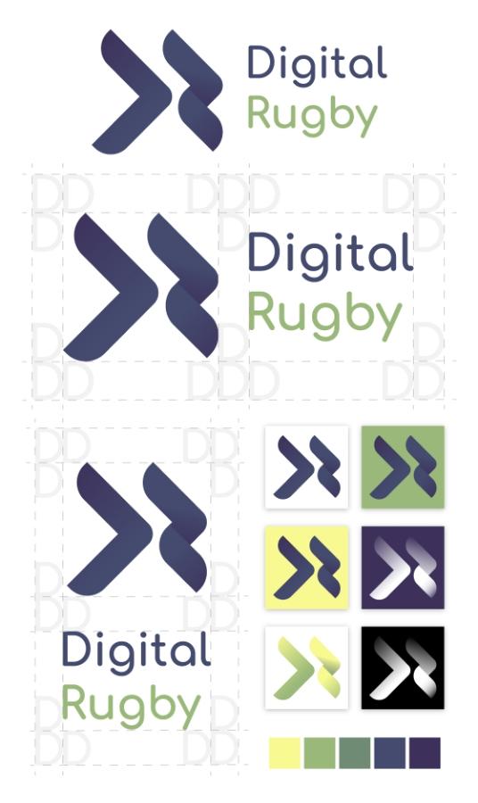 digital rugby logo designs 1point3creative