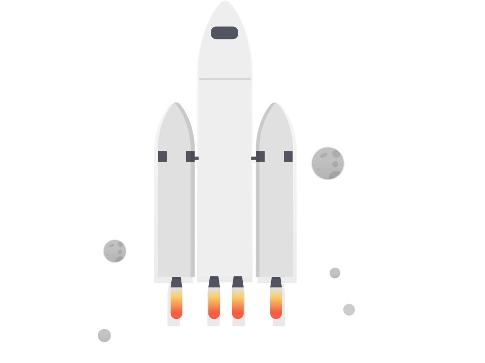 Explore Rocket ship Illustration. web design 1point3creative