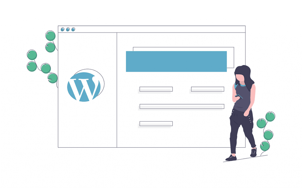 WordPress Website Illustration. web design