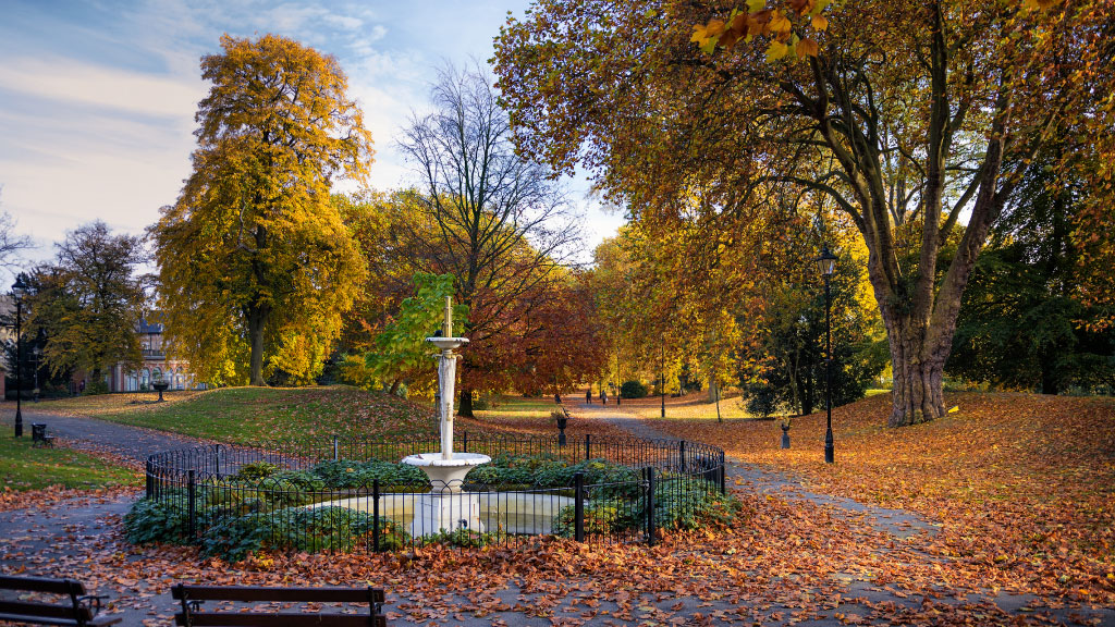 Derby Arboretum Park. silkmill